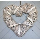 Tobs Large Rattan Heart Wreath