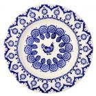 Emma Bridgewater Blue Hen & Border 10 1/2 inch Plate