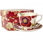 Emma Bridgewater Christmas Rose Large Tea Cup & Saucer