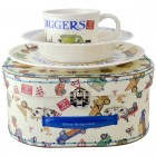 Emma Bridgewater Men At Work Melamine Set in Suitcase