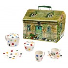 Emma Bridgewater Polka Dot Melamine Child's Tea Set in House