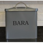Serif Dark Grey Bara Bread Bin