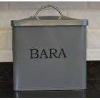 Serif Dark Grey Bara Bread Bin