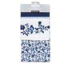 Kitchen Craft Traditional Blue Tea Towels