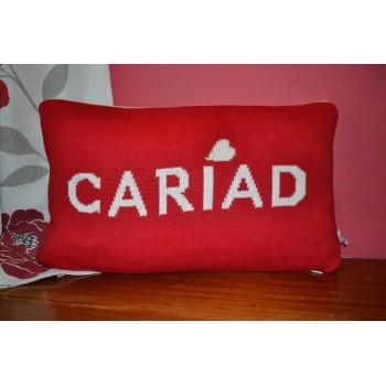 Cariad Red Welsh Cushion