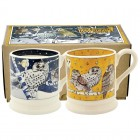 Emma Bridgewater Owls at Night Set of 2 1/2 Pint Mugs