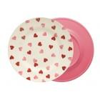 Emma Bridgewater Pink Hearts Melamine Dinner Plate