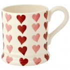 Emma Bridgewater Pink Hearts Stacks 1/2 Pint Mug