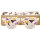 Emma Bridgewater Wallflower Set of 2 Small Fluted Bowls