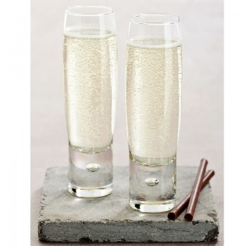 Durobor Bubble Flute Champagne Glasses - Set of 6