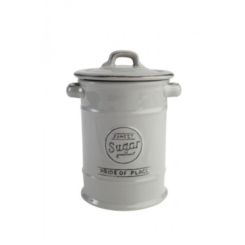 T&G Pride of Place Cool Grey Sugar Jar