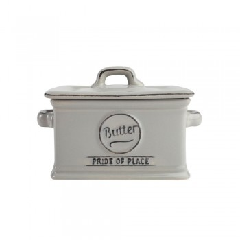 T&G Pride of Place Cool Grey Butter Dish
