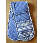 Seasalt Scattered Anchor Double Oven Gloves