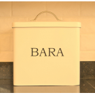 Serif Cream Enamel Bara Bread Bin