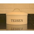 Serif Cream Enamel Teisen / Cacen Cake Tin