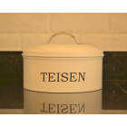 Serif Cream Enamel Cacen Cake Tin