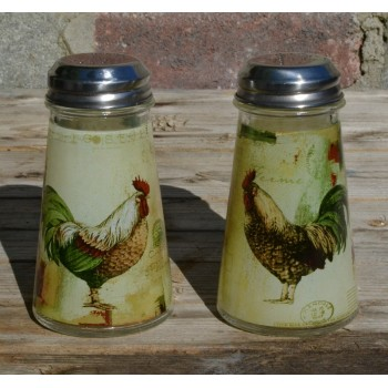 Bistro Rooster Salt & Pepper Shaker Set