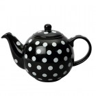 London Pottery Globe Black Teapot with White Spots - 4 Cup