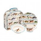 Emma Bridgewater Dinosaurs Melamine Set in Suitcase