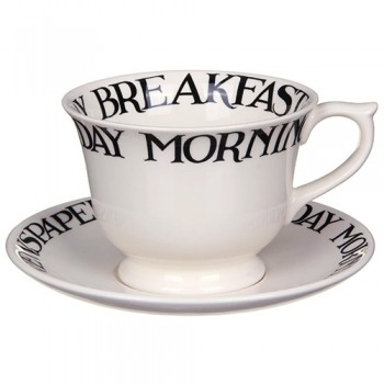 Emma Bridgewater Black Toast Large Cup & Saucer