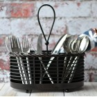 Mikasa Gourmet Basics Rope Napkin Flatware Caddy