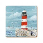 Creative Tops Lighthouse Coastal Everyday Home Coasters - Set of 4