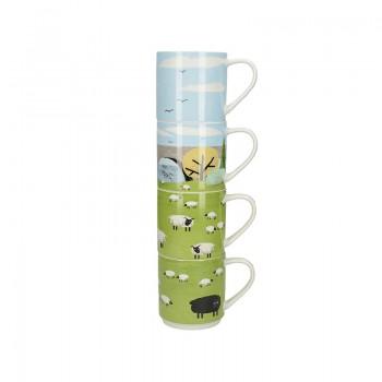 Woolly Mornings Stacking Mugs