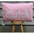 Cwtch Pink Welsh Cushion