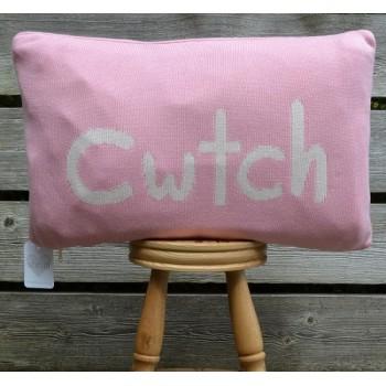 Cwtch Pink Welsh Cushion