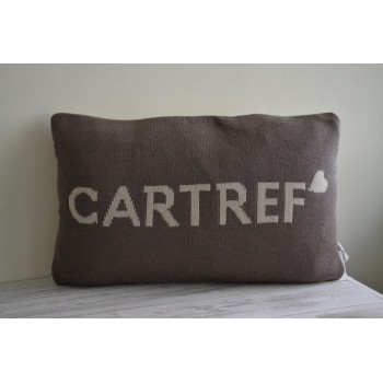 Cartref Beige & Brown Welsh Cushion