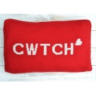 Cwtch Red & White Welsh Cushion