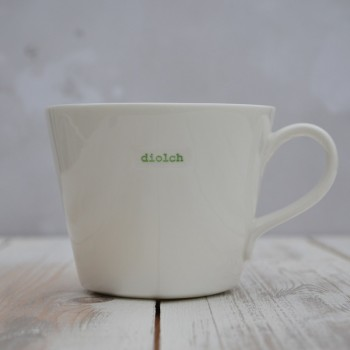 Welsh Word Range Diolch Bucket Mug