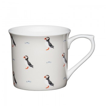 Puffin Fluted Fine Bone China Mug