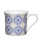 Blue Filigree Fine Bone China Mug