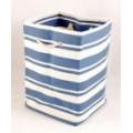 Tobs New England Cream & Blue Stripe Nautical Tall Storage Tub