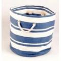 Tobs New England Cream/Blue Stripe Nautical Round Tub