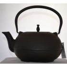 Victor Matt Black Cast Iron Stove Tea Kettle with Strainer
