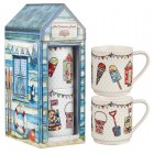 Churchill China  Caravan Trail Beach Hut Stacking Mug Set