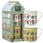 Churchill China RHS Greenhouse Stacking Mug Set