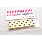 Polka Dot Ribbon - Cream & Black
