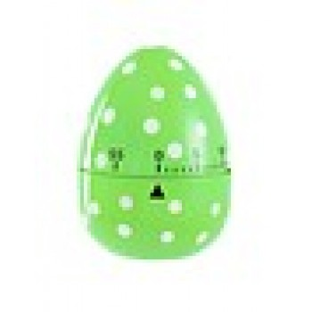 Spotted Egg Kitchen Timer - Green