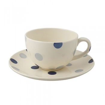 Fairmont & Main Blue Spot Teacup & Saucer