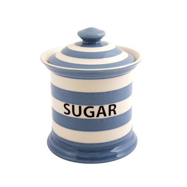 Fairmont & Main Blue Kitchen Stripe Sugar Storage Jar