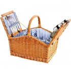 Sandringham 4 Person Wicker Picnic Hamper