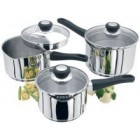 Judge Vista 3 Piece Draining Lid Set