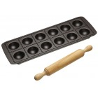 Kitchen Craft Non Stick Ravioli Tray and Rolling Pin