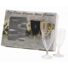 Plastic One Piece Wine Glasses - Pack of 8