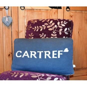Cartref Blue & White Welsh Cushion
