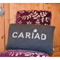 Cariad Grey Welsh Cushion