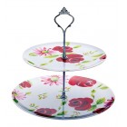 Coolmovers Secret Garden Melamine Two Tier Cake Stand